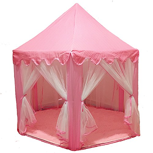 Geburtstagsgeschenk sechseckige Kinder Zelt Tüll Anti-Moskito Innen Außenzelt Mädchen Spielzeug Spiel Haus Schloss Zelt