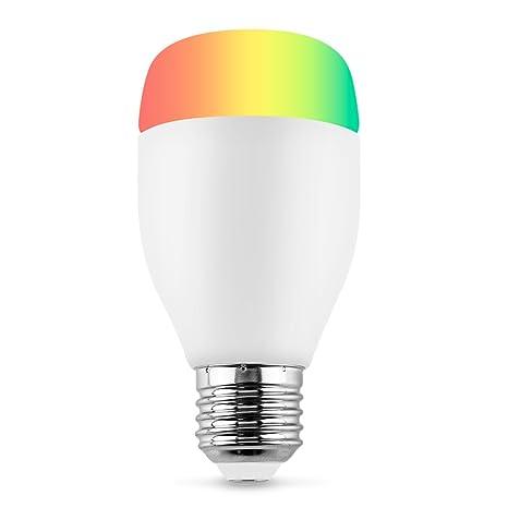 Bombilla LED E27 7W Luminación Inteligente wifi, Lámpara RGBW Luz Blanca Cálida Regulable Compatible con