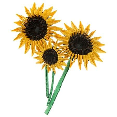 3d Origami Sunflowers Amazon Kitchen Home