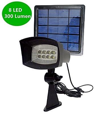 [Newest 300 Lumen] YINGHAO New Release 300LM Solar Spotlight/ Solar Powered Outdoor Security Light Landscape Spotlight for Walkways/ Solar Flag Pole Light for Tree, Garden, Driveway, Pool Area, Etc.