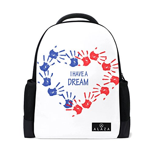 Backpack Rucksack Laptop Bag Shoulder Daypack for Student Human Palm Heart Shaped (Personalized Heart Shaped Pen)