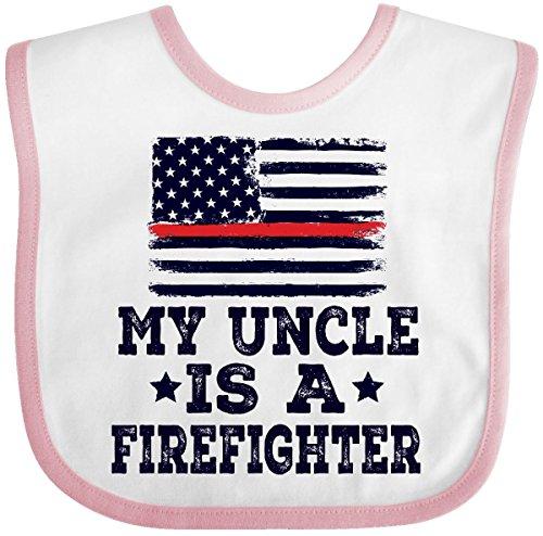ter Uncle Fireman Nephew Baby Bib White/Pink 2ec67 ()