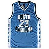 NO.23 retro Jordan North Carolina University throwback basketball jerseys embroidery double-slit blue M