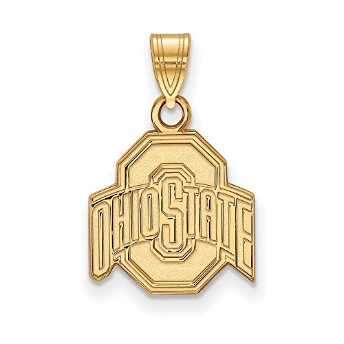 Ohio State Small (1/2 Inch) Pendant (10k Yellow Gold) by LogoArt