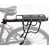 PEXIQAKA Bike Carrier Rack Capacidad de 50kg Solid Bearings Rack de Carga Universal para Equipaje de Bicicleta Ajustable