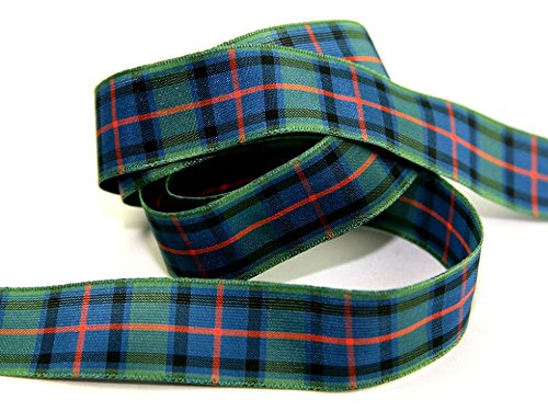 Scotland Tartan Ribbon - 7mm Berisford Woven Tartan Ribbon 16 Flower of Scotland - per metre