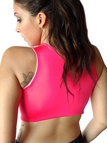 761ca122c3ab6 Post Surgical Comfort Compression Sports Bra  Hot Pink Dragonfly at Amazon  Women s Clothing store