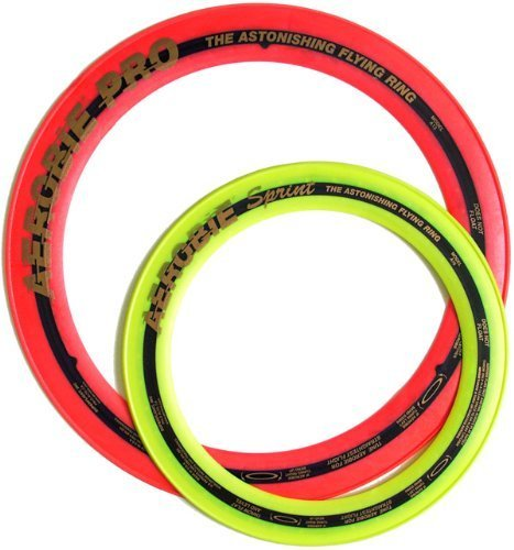 Aerobie Pro Ring (13'') & Sprint Ring (10'') Set, Random Assorted Colors by Aerobie