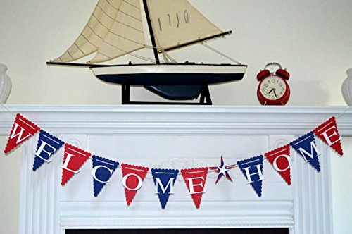 Welcome Home Banner Military Banner Home from War Decorations/Red White Blue Military Banner, Military welcome home sign