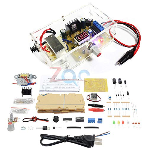 WSDMAVIS 1 Pcs LM317 Voltage Regulator Adjustable Power Supply Module DC 3-30V//AC 3-20V Digital Display