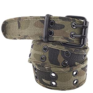 Unisex Two-Hole Canvas Belt – Available in 14 Colors