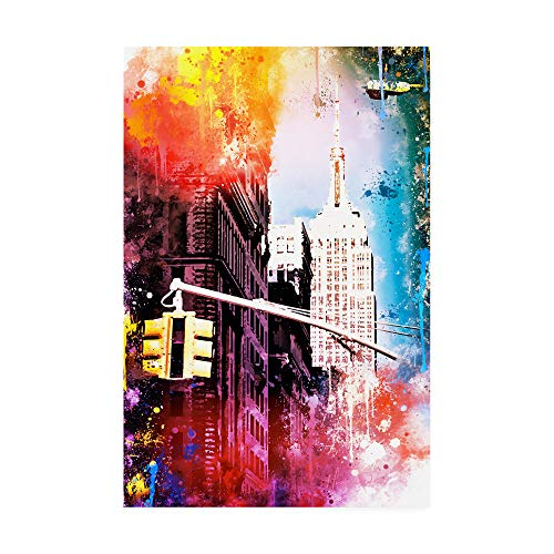 Empire Art Collection - Trademark Fine Art NYC Watercolor Collection - Empire by Philippe Hugonnard, 16x24,