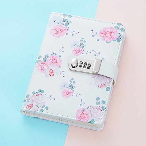 JunShop Creative Password Lock Journal Digital Password Notebook Combination Locking Journal Diary (Style 3) by JunShop