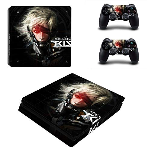Playstation 4 Slim Skin Set - Metal Gear Solid : Rising HD Printing Vinyl Skin Cover Protective for PS4 Slim Console and 2 PS4 Controller by Mr Wonderful Skin