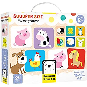 Banana Panda - Suuuper Size Memory Game - Educational Game for Kids Ages 2 Years and Up