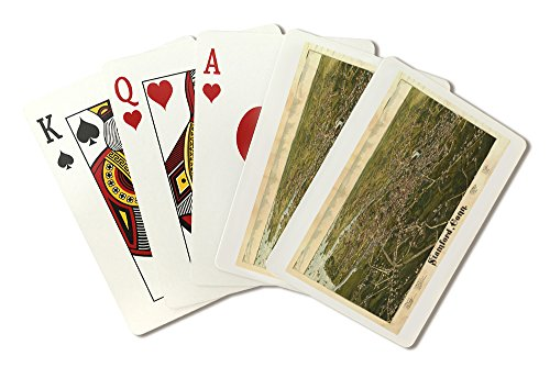 Stamford, Connecticut - Panoramic Map (Playing Card Deck - 52 Card Poker Size with Jokers)
