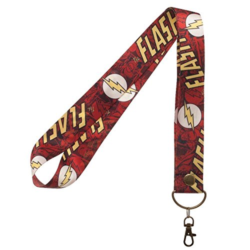 DC Comics The Flash Logo Wide Lanyard Keychain