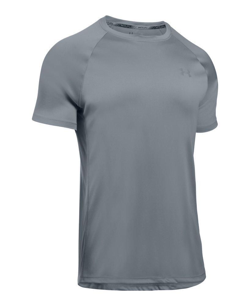 Under Armour Men's HeatGear Run Short Sleeve T-Shirt, Steel /Reflective, X-Large by Under Armour (Image #4)