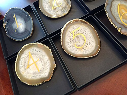 Agate Table Number by CALLIGRAPHY BY CARLA