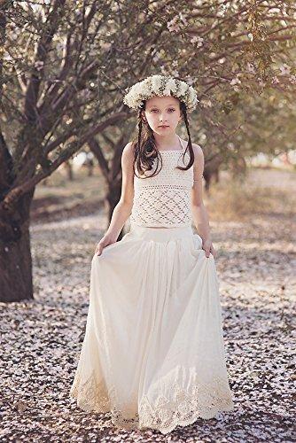 super service reliable reputation best selection of Amazon.com: Boho Crochet Lace Flower Girl Dress, Junior ...