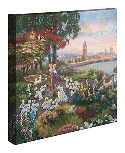 Thomas Kinkade Studios Disney 101 Dalmatians 14 x 14 Gallery Wrapped Canvas