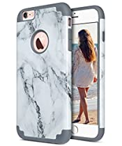 iPhone 6S Plus Case, iPhone 6 Plus Case, ULAK Slim Dual Layer Hybrid Protective Case Fit for Apple iPhone 6 Plus (2014) / 6S Plus(2015) 5.5 inch Hard Back Cover and Soft Silicone Skin-Marble Pattern