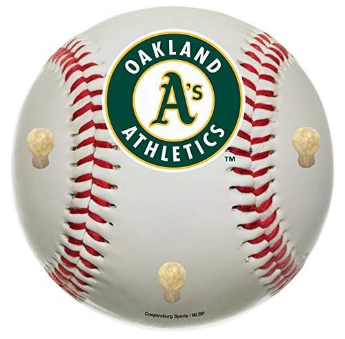 MLB Oakland Athletics 15-Inch Baseball Shaped Coat Rack with Full Color Team ()