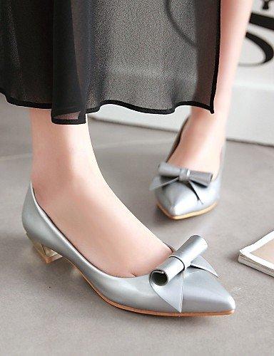 Aire Pisos casual Zapatos Punta Piel Sinttica Uk5 Carrera 5 Mujer Silver Tacn de De Y Libre Toe Eu38 plata 5 Cn38 Al oficina gris Rosa us7 Pdx Bajo 7TxqfvW