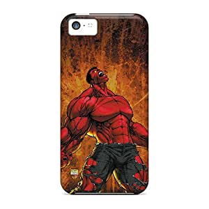 High Quality Red Hulk I4 Cases For Iphone 5c / Perfect Cases