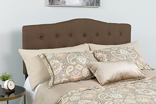 Flash Furniture Cambridge Tufted Upholstered Queen Size Headboard in Dark Brown Fabric by Flash Furniture (Image #2)