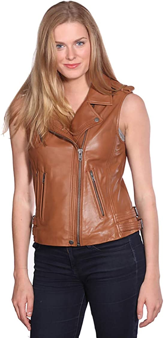 Woojo Stylish HOT Womens Genuine Real Lambskin Pure Leather Jacket WO083