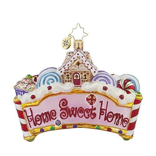 Christopher Radko Home Sweet Home Gingerbread Glass Christmas Ornament by Christopher Radko