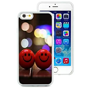 NEW Unique Custom Designed iPhone 6 4.7 Inch TPU Phone Case With Red Happy Smiley_White Phone Case wangjiang maoyi