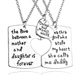 Best Jewelry For 3s - 3 Piece Mother Father Daughter Heart Pendant Necklace Review