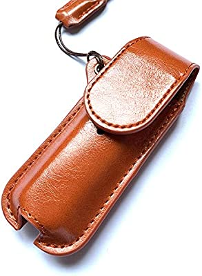 Smok Novo 2 and Novo 1 Kit Leather Protective Case with Magnetic Closure 360-Degree All-Inclusive Protection Lanyard Pocket Holder