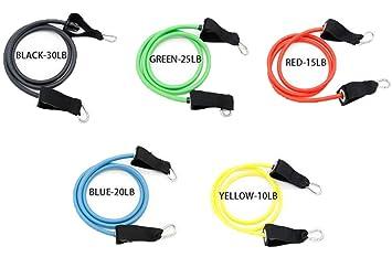11pcs Set latex bandes extensibles bandes de résistance fitness set avec 5  tubes de fitness e8dd58d6820