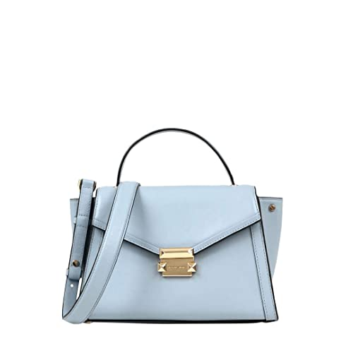 d1800de9b84794 MICHAEL by Michael Kors Whitney Borsa Blu in Pelle Medium Donna uni Pale  Blu: Amazon.it: Scarpe e borse