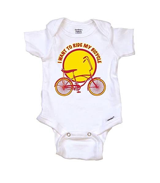 amazon i want to ride my bicycle cool baby onesie bodysuit t 1970s Men Fashion Style amazon i want to ride my bicycle cool baby onesie bodysuit t shirt cool baby gift clothing