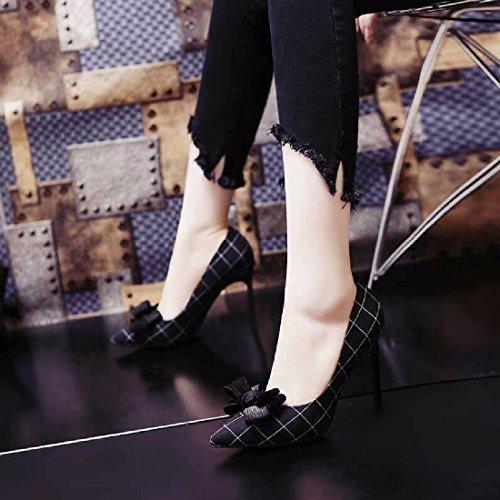 Dünne mit QPSSP Frauen Absätzen Schuhe Schmetterlinge Hohen Knoten Schuhe Schuhe YBwBZ