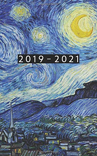2019 - 2021: Weekly Planner Starting June 2019 - May 2021 | 5 x 8 Dated Agenda | 24 Month Appointment Calendar | Organizer Book | Soft-Cover Van Gogh Starry Night por Pocket Planner