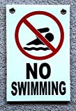 1 Pc First-class Popular No Swimming Symbol Sign Indoor Message Plastic Printed Yard Decal Size 8' x 12' with...