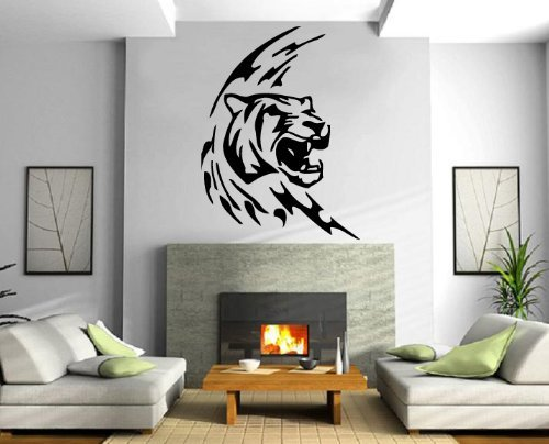 Atopdecals® Lioness Head Roar Woods Hunter Animal Decor Wall Mural Vinyl Art Sticker (Lioness Head)
