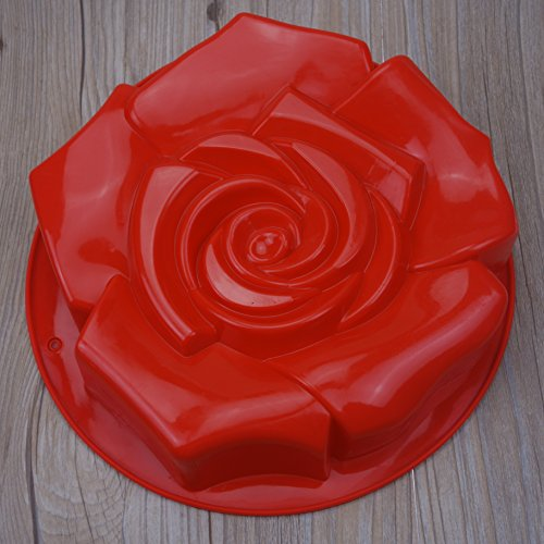 FantasyDay Rose Flower Shaped Full-Sized Silicone Cake Baking Pan / Silicone Mold for Anniversary Birthday Cake, Loaf, Muffin, Brownie, Cheesecake, Tart, Pie, Flan, Bread, Pudding and More #1
