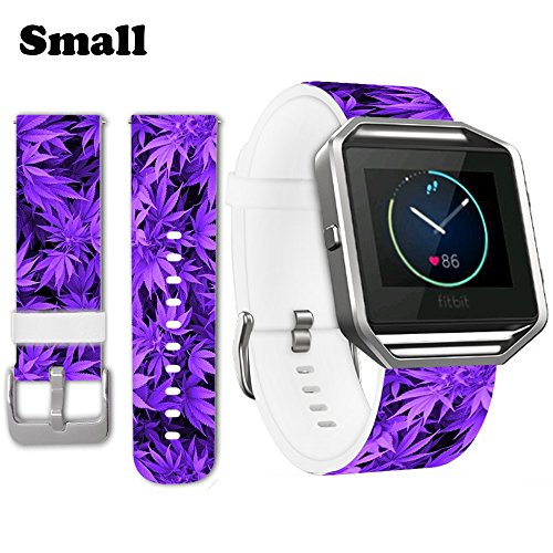 23 Purple Leaves (Jolook for Fitbit Blaze Leather Band,Jolook Small Replacement Leather Band Straps for Fitbit Blaze Small (5.5