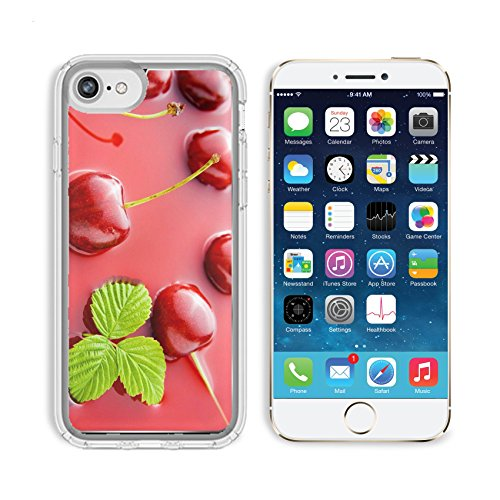Table Cherry Plank (MSD Premium Apple iPhone 6 iPhone 6S Clear case Soft TPU Rubber Silicone Bumper Snap Cases Fresh healthy cherries representing cherry juice concept Image 7271064 Customized Tablemats Stain Resistance)