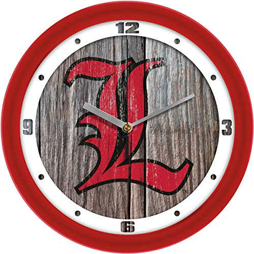 SunTime Louisville Cardinals - Weathered Wood Wall Clock