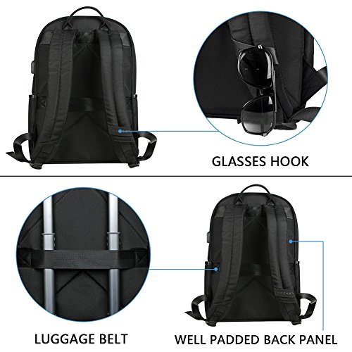 KROSER-Laptop-Backpack-156-Inch-Computer-Backpack-Fashion-School-Backpack-Laptop-Bag-Water-Repellent-Nylon-Casual-Daypack-with-USB-Charging-Port-for-TravelBusinessCollegeWomenMen