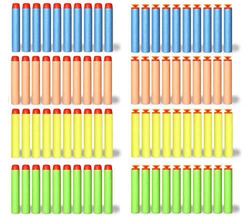200 Foam Darts Refill Bullet Pack for Nerf N-strike Elite Series Blasters (100 Suction Darts + 100 Tip Darts) (Suction Cup Darts)