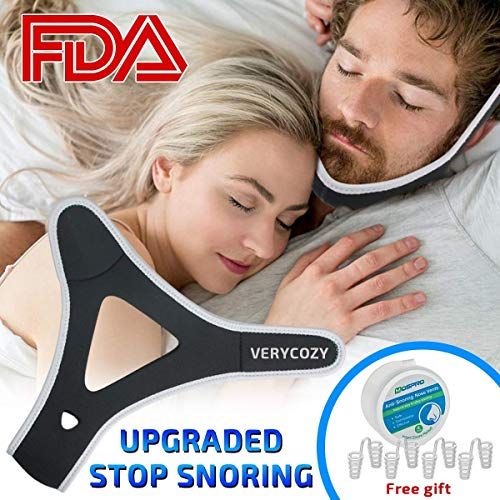 Snoring Chin Strap Snore Reduction Adjustable Snore Relief Sleep Aid Devices Chin Strap Snore Stopper,Chin Strips Snoring Solution Stop Snoring Chin Strap for Men (Best Anti Snoring Chin Strap)