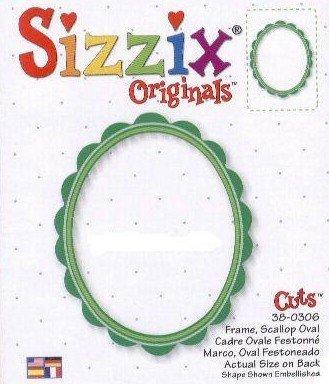 Sizzix 38-0306 Frame, Scallop Oval